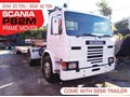 SCANIA P82M #2176A P82M SCANIA 4x2 Prime mover Truck and Low Loader Combo. 275HP. 434,000 KM [MACHTRUCK]