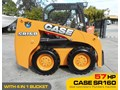 CASE #2134 SR160 TURBO SKID STEER LOADER [57 HP] [UNUSED DEMO, ONLY 5.4 HOURS] [MACHETC] SR160 Turbo Skid Steer Loader [57HP] [UNUSED] - Pilot control [MACHETC]