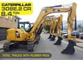 CATERPILLAR 308E2.CR #308EINC02 CATERPILLAR 308E2.CR 8.4 TON CAT 308.E2 STEEL TRACKS EXCAVATOR FITTED WITH RUBBER PADS [UNUSED 3.2 HRS] [MACHEXC]