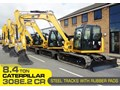 CATERPILLAR #308EINC03 CAT 308E2.CR 8.4 TON 308.E2 STEEL TRACKS EXCAVATOR FITTED WITH RUBBER PADS [UNUSED 6.1 HRS] [MACHEXC] 308E2 CR