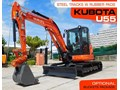 KUBOTA #2189 U55 5.5 TON COMPACT EXCAVATOR [10 HRS] WITH RUBBER PADS FITTED [MACHEXC] U55