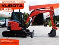 KUBOTA U55 [5.5Ton] Steel Tracks Compact Excavator U55 [5 HOURS] #2190A with Optional Rubber pads [MACHEXC]