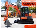KUBOTA U55 [5.5Ton] U55 Steel Tracks Compact Excavator [ONLY 7 HOURS] #2191C with Optional Rubber pads. [MACHEXC]
