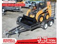 INTERSTATE TRAILERS 3.5 TON PLANT TRAILER + CASE SR130 MINI SKID STEER LOADER [ATTRAIL] [MCOMBO] 3.5 TON