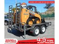 INTERSTATE TRAILERS 4.5 TON PLANT TRAILER + CASE SR130 MINI SKID STEER LOADER COMBO [ATTRAIL] [MCOMBO] 4.5 TON