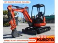 KUBOTA #2137 U25 ZAPII [2.2 TON] MINI EXCAVATOR [ONLY 3.9 HOURS] EXPANDABLE TRACKS [MACHKUBO] U25 ZAPII