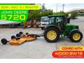 WOODS EQUIPMENT BW180X PTO ROTARY CUTTERS COMBO WITH JOHN DEERE 5720 TRACTOR + [ATTPTO][MACHOME][MACFARM]
