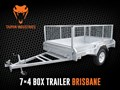 2016 TAIPAN 7×4 SINGLE AXEL BOX TRAILER (FULLY WELDED)