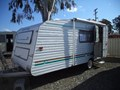 1996 SPACELAND CARAVAN (GAS LIFT L-SHAPE SINGLE BEDS)