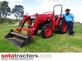 KUBOTA L4508DT TRACTOR WITH 4 IN 1 FEL 45HP