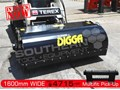 2017 DIGGA HEAVY DUTY 1600MM ENCLOSED Bucket Broom Sweeper suit Bobcat Skid Steer loaders ATTBOM