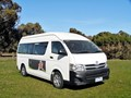 2010 TOYOTA HIACE (ONLY 24,500 K'S), WHEELCHAIR, TURBO DIESEL AUTOMATIC, HIGH ROOF MINI BUS.