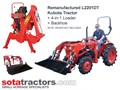 KUBOTA L2201DT TRACTOR + 4 IN 1 LOADER + BACKHOE