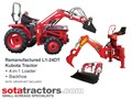 KUBOTA L1-24DT TRACTOR + 4 IN 1 LOADER + BACKHOE