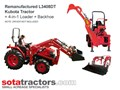 KUBOTA L3408DT TRACTOR + 4 IN 1 LOADER + BACKHOE
