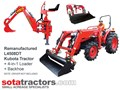 KUBOTA L4508DT TRACTOR + 4 IN 1 LOADER + BACKHOE