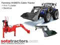 FARMTRAC 110HP CAB TRACTOR + 4 IN 1 LOADER + BACKHOE