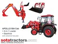 APOLLO 55HP CAB TRACTOR + 4 IN 1 LOADER + BACKHOE