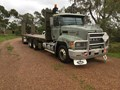 2000 MACK FLEET-LINER CH Fleetliner and Plant Trailer