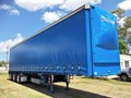 2010 VAWDREY 45FT FLAT TOP CURTAINSIDER SEMI TRAILER