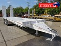 2020 INTERSTATE TRAILERS TRI AXLE 28 Ton Tag Trailer Custom White