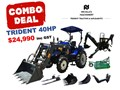 2019 TRIDENT 40HP EOFY COMBO DEAL (FEL + BACKHOE + SLASHER + FORKS) 404