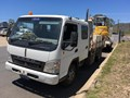 2007 FUSO CANTER 715 WIDE CREW CAB TIPPER BODY N TRAILER
