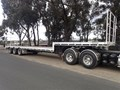 2007 KRUEGER DROP DECK TRAILER 45 ft Tri Axle Drop Deck