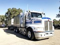 2010 KENWORTH T408 AND 4 AXLE DOG TRAILER