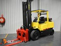 HYSTER H5.00DX WITH ROTATING PALLET FORK ATTACHMENT DX
