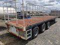 1989 LUSTY FLAT TOP SEMI TRAILER