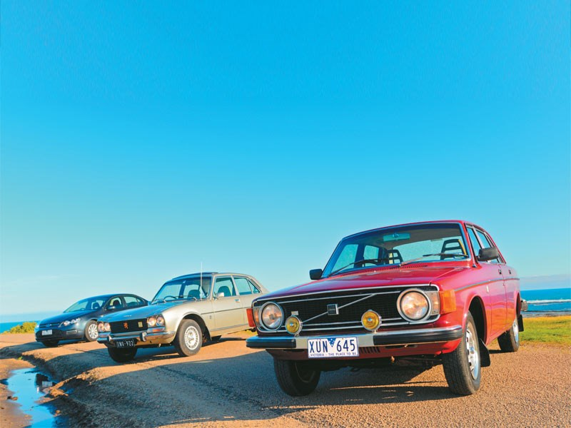 2012 Fg Falcon Vs 1976 Peugeot 504 Vs 1974 Volvo 144 Comparison Review