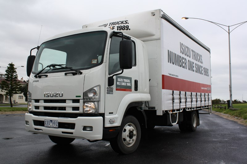 isuzu trucks may have brought the frr 600 into being almost two years ago  but that doesn't stop matt wood from settling a score with van couriers in