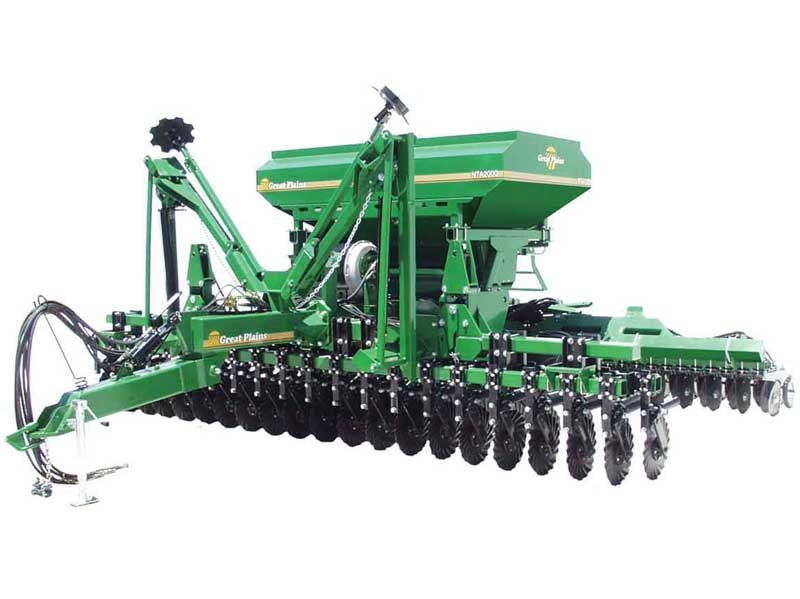 New Great Plains Nta2000 Trailing Triple Disc Air Drill Tillage And