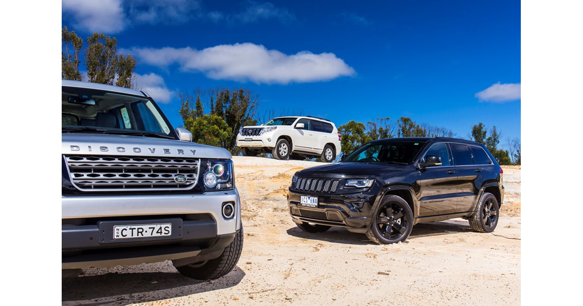Jeep Grand Cherokee Vs Land Rover Discovery Vs Toyota