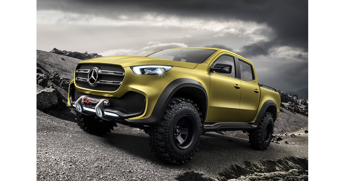 mercedes benz unveils x class pick up. Black Bedroom Furniture Sets. Home Design Ideas