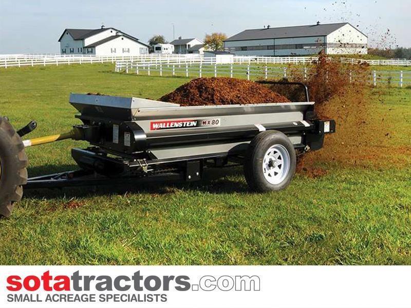 wallenstein mx80p manure spreader pto 1275kg capacity for sale