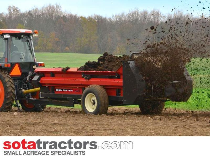 wallenstein mx130 manure spreader pto 2000kg capacity for sale