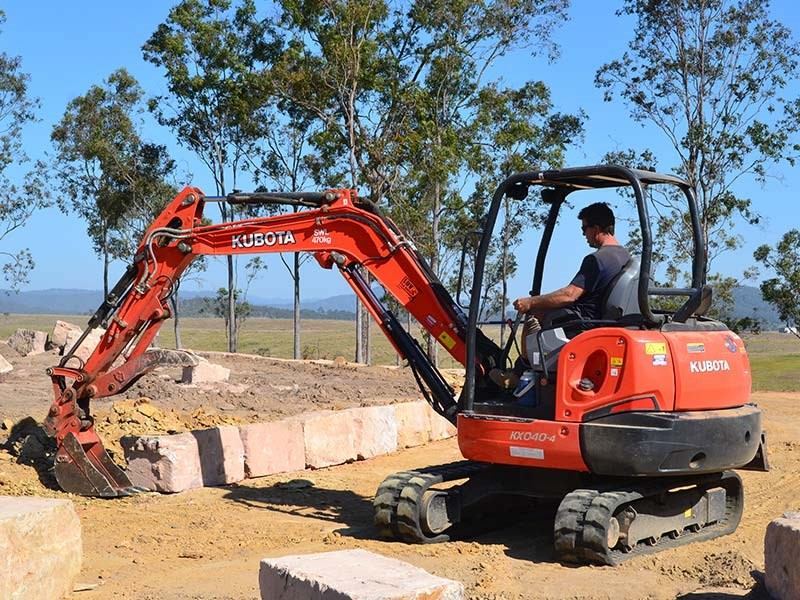 Kubota KX040-4 mini excavator review