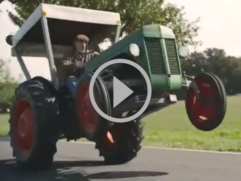 video souped up old school tractor. Black Bedroom Furniture Sets. Home Design Ideas