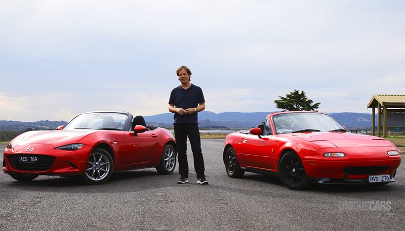 Video: Mazda MX-5 Old vs New (1992 & 2016)
