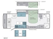 Jayco Silverline 23.72-1 Caravan Floor Plan