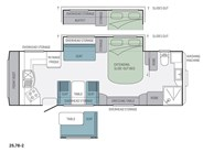Jayco Silverline 25.78-2 Caravan Floor Plan