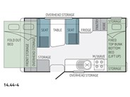 Jayco Expanda 14.44-4 Pop Top Floor Plan