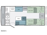 Jayco Journey 16.52-1 Floor Plan