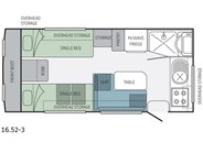 Jayco Journey 16.52-3 Floor Plan