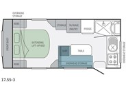 Jayco Journey 17.55-3 Floor Plan