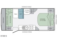 Jayco Journey 17.55-5 Floor Plan