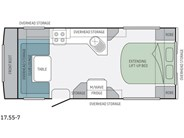 Jayco Journey 17.55-7 Floor Plan