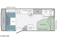 Jayco Journey 17.55-7 SH Floor Plan